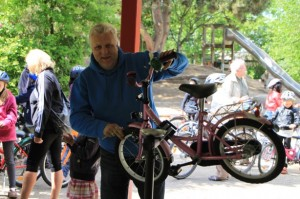 Herr Beier-Fahrradparcours