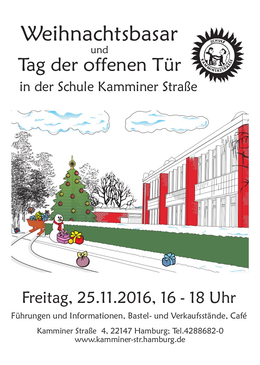Weihnachtsbasar und Tag der offenen Tür an der Grundschule Kamminer Straße. 25.11.2016